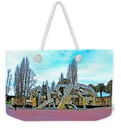 The Fountain At Justin Herman Plaza Near Embarcadero In San Francisco-california Weekender Tote Bag