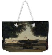 The Fountain Of The French Academy In Rome, 1826-27 Oil On Canvas Weekender Tote Bag