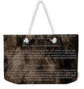 The Four Agreements Weekender Tote Bag