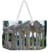The Four Roman Columns Of The Ceremonial Gateway  Weekender Tote Bag