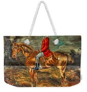 The Fox Hunt With Light Antique Store Mural Griffin Georgia Art Weekender Tote Bag