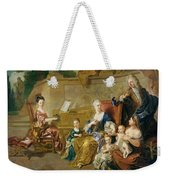 The Franqueville Family, 1711 Oil On Canvas Weekender Tote Bag