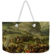 The French Army Travelling Over The St. Bernard Pass At Bourg St. Pierre, 20th May 1800, 1806 Oil Weekender Tote Bag