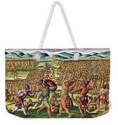 The French Help The Indians In Battle Weekender Tote Bag