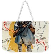 The French Infantry In The Battle Weekender Tote Bag