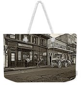 The French Quarter Sepia Weekender Tote Bag