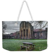 The Frosty Bench Weekender Tote Bag