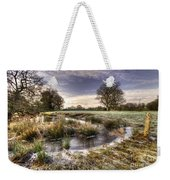 the  Frosty Field  Weekender Tote Bag