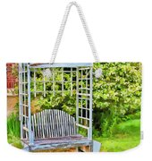 The Garden Bench In Spring  Weekender Tote Bag