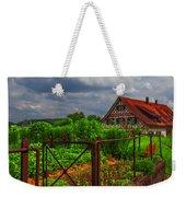 The Garden Gate Weekender Tote Bag by Debra and Dave Vanderlaan