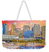 The Garish City Cincinnati Weekender Tote Bag