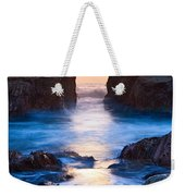The Gateway - Sunset On Arch Rock In Pfeiffer Beach Big Sur In California. Weekender Tote Bag by Jamie Pham