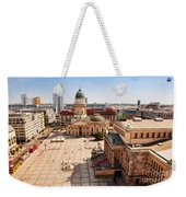 The Gendarmenmarkt And German Cathedral In Berlin Weekender Tote Bag