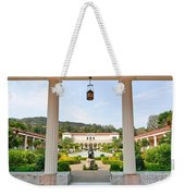 The Getty Villa Main Courtyard View From Covered Walkway. Weekender Tote Bag