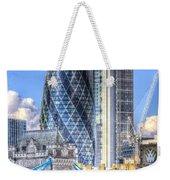 The Gherkin And Tower Bridge Weekender Tote Bag