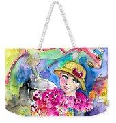The Girl And The Lizard Weekender Tote Bag