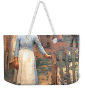 The Girl At The Gate Weekender Tote Bag