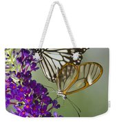 The Glasswing And A Friend  Weekender Tote Bag