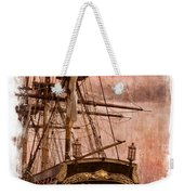 The Gleaming Hull Of The Hms Bounty Weekender Tote Bag