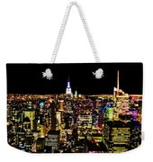 The Glow Of The New York City Skyline Weekender Tote Bag