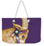 The Goat Who Likes Purple Weekender Tote Bag