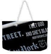The God Complex Weekender Tote Bag