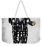The Godfather Inspired Don Vito Corleone Typography Artwork Weekender Tote Bag