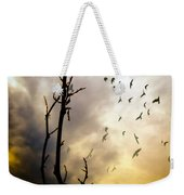 The Gods Laugh When The Winter Crows Fly Weekender Tote Bag by Bob Orsillo