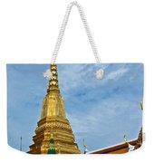 The Golden Chedis At Grand Palace Of Thailand In Bangkok Weekender Tote Bag