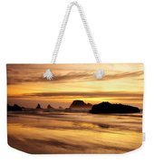 The Golden Coast Weekender Tote Bag by Darren  White