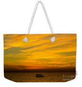 The Golden Sky That Mesmerize  Weekender Tote Bag
