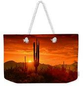 The Golden Southwest Skies  Weekender Tote Bag