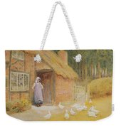 The Goose Girl Weekender Tote Bag by Arthur Claude Strachan