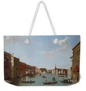 The Grand Canal And San Geremia, Venice, 18th Century Weekender Tote Bag