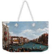 The Grand Canal At Venice Weekender Tote Bag by Antonio Canaletto