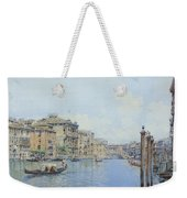 The Grand Canal With A View Of Palace Weekender Tote Bag