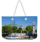 The Grand Palais And The Alexandre Bridge Paris Weekender Tote Bag