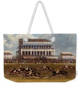 The Grand Stand At Epsom Races, Print Weekender Tote Bag