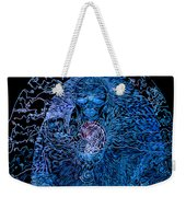 The Great Amma In Black Light Weekender Tote Bag