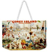The Great Coney Island Water Carnival Weekender Tote Bag by Georgia Fowler