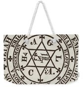 The Great Magic Circle Of Agrippa For The Evocation Of Demons Weekender Tote Bag