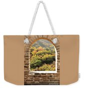 The Great Wall Window Weekender Tote Bag