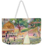 The Green Beach Cottage Weekender Tote Bag