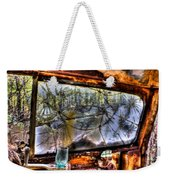 The Green Drinking Glass Onboard Weekender Tote Bag