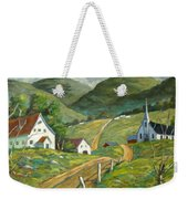 The Green Hills Weekender Tote Bag