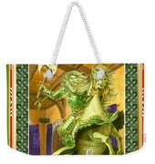 The Green Knight Christmas Card Weekender Tote Bag