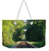 The Green Line Railroad Track Art Weekender Tote Bag