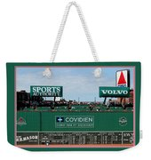 The Green Monster Fenway Park Weekender Tote Bag