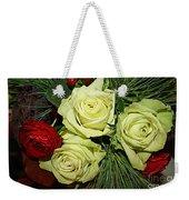 The Green Roses Of Winter Weekender Tote Bag
