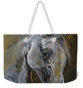 The Grey Arabian Horse Oil Painting Weekender Tote Bag